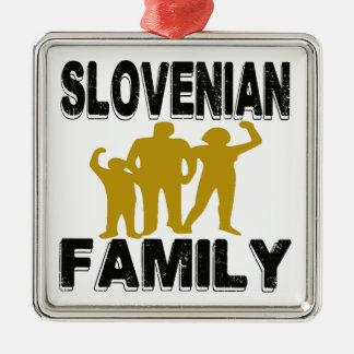 Familia eslovena adorno cuadrado plateado