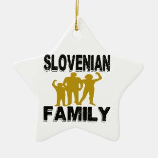 Familia eslovena adorno de cerámica en forma de estrella