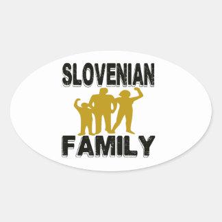 Familia eslovena pegatina ovalada