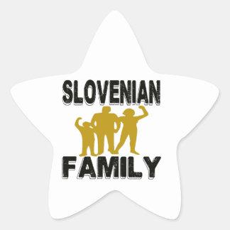 Familia eslovena pegatina en forma de estrella