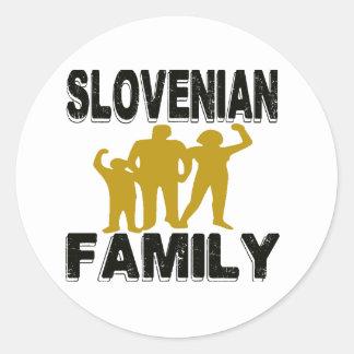 Familia eslovena pegatina redonda