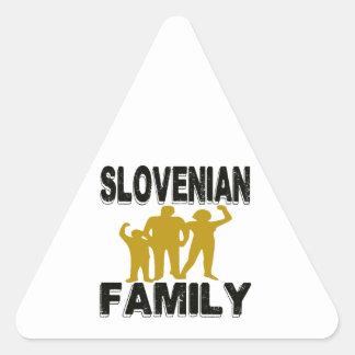 Familia eslovena pegatina triangular