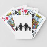 Familia esquimal cartas de juego