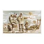 Familia esquimal impresión en lona