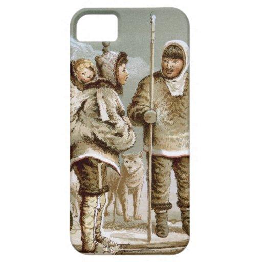 Familia esquimal iPhone 5 carcasas