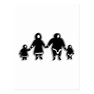 Familia esquimal postal