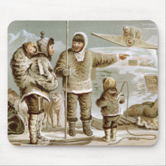 Familia esquimal tapetes de ratón