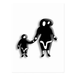 Familia esquimal tarjetas postales