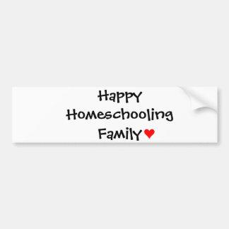 Familia feliz de Homeschooling Pegatina Para Auto