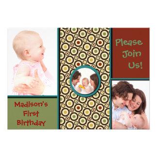 Familia feliz invitación personalizada