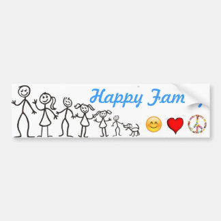 Familia feliz pegatina para auto
