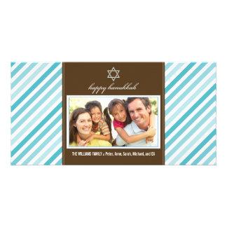 Familia feliz Photocard (aguamarina) de la cinta d Tarjeta Personal