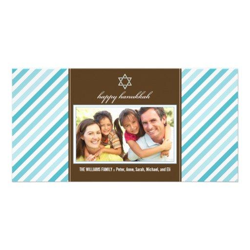 Familia feliz Photocard (aguamarina) de la cinta d Tarjeta Con Foto Personalizada