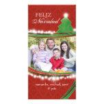 Familia feliz Photocards del navidad de Feliz Navi Tarjeta Personal