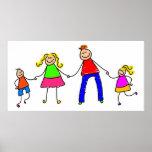 Familia feliz poster