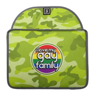Familia gay; camo verde claro, camuflaje fundas para macbooks