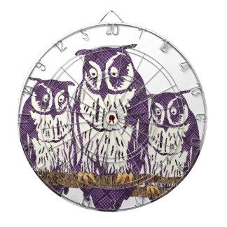 Familia geométrica estilizada púrpura del búho