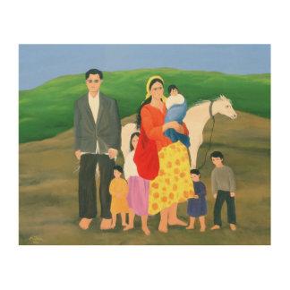 Familia gitana 1986 cuadros de madera
