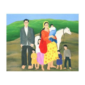 Familia gitana 1986 impresion en lona