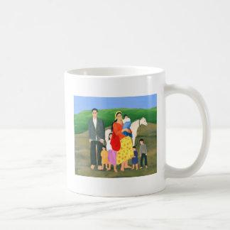 Familia gitana 1986 taza básica blanca