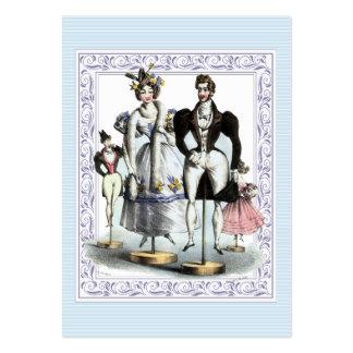 Familia graciosamente de la moda del francés del v tarjetas de visita