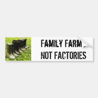 Familia Gumboots para la granja Etiqueta De Parachoque