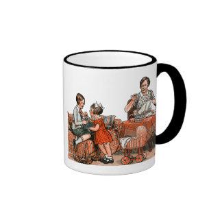 Familia holandesa taza a dos colores