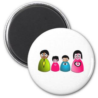 familia imán redondo 5 cm