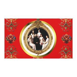 Familia imperial rusa de Romanov en lona del estir Lona Envuelta Para Galerias