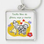 Familia Libre de Gluten, Soya y Caseina Llavero Personalizado