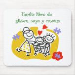 Familia Libre de Gluten, Soya y Caseina Tapete De Ratón
