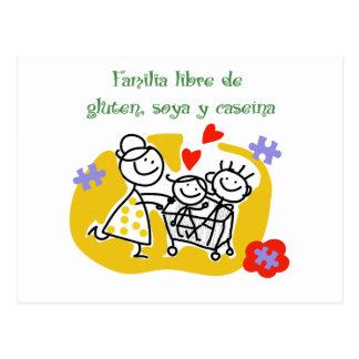 Familia Libre de Gluten, Soya y Caseina Tarjeta Postal