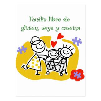 Familia Libre de Gluten, Soya y Caseina Postal