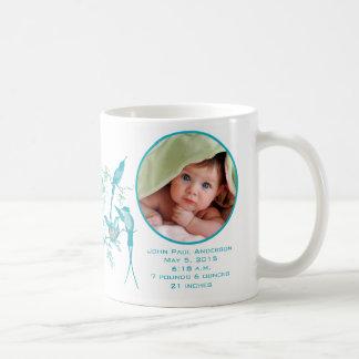 Familia linda del colibrí de la foto del bebé taza clásica