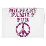 Familia militar para la paz felicitacion