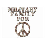 Familia militar para la paz postales