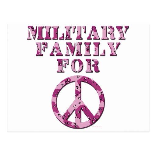 Familia militar para la paz tarjetas postales