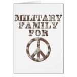 Familia militar para la paz tarjeton