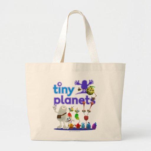 Familia minúscula de los planetas bolsa tela grande