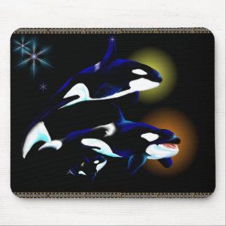 Familia Mousepad de la orca Alfombrillas De Ratones