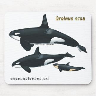 Familia Mousepad de la orca Alfombrilla De Raton