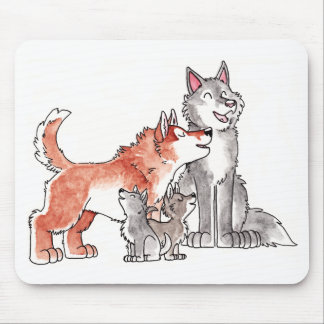 Familia Mousepad del lobo Alfombrillas De Ratón