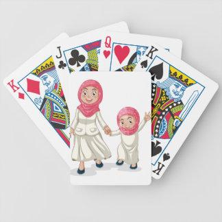 Familia musulmán baraja cartas de poker