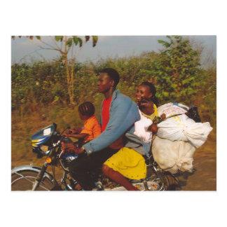 Familia nigeriana tarjeta postal