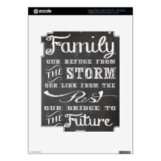 Familia: Nuestro refugio de la tormenta Pegatinas Skins Para iPad 3