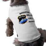 Familia oficial de la policía camisetas de perrito