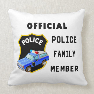 Familia oficial de la policía cojín