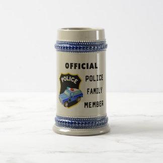 Familia oficial de la policía jarra de cerveza