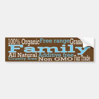 Familia orgánica pegatina para auto
