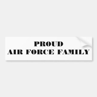 Familia orgullosa de la fuerza aérea de la pegatin pegatina para auto